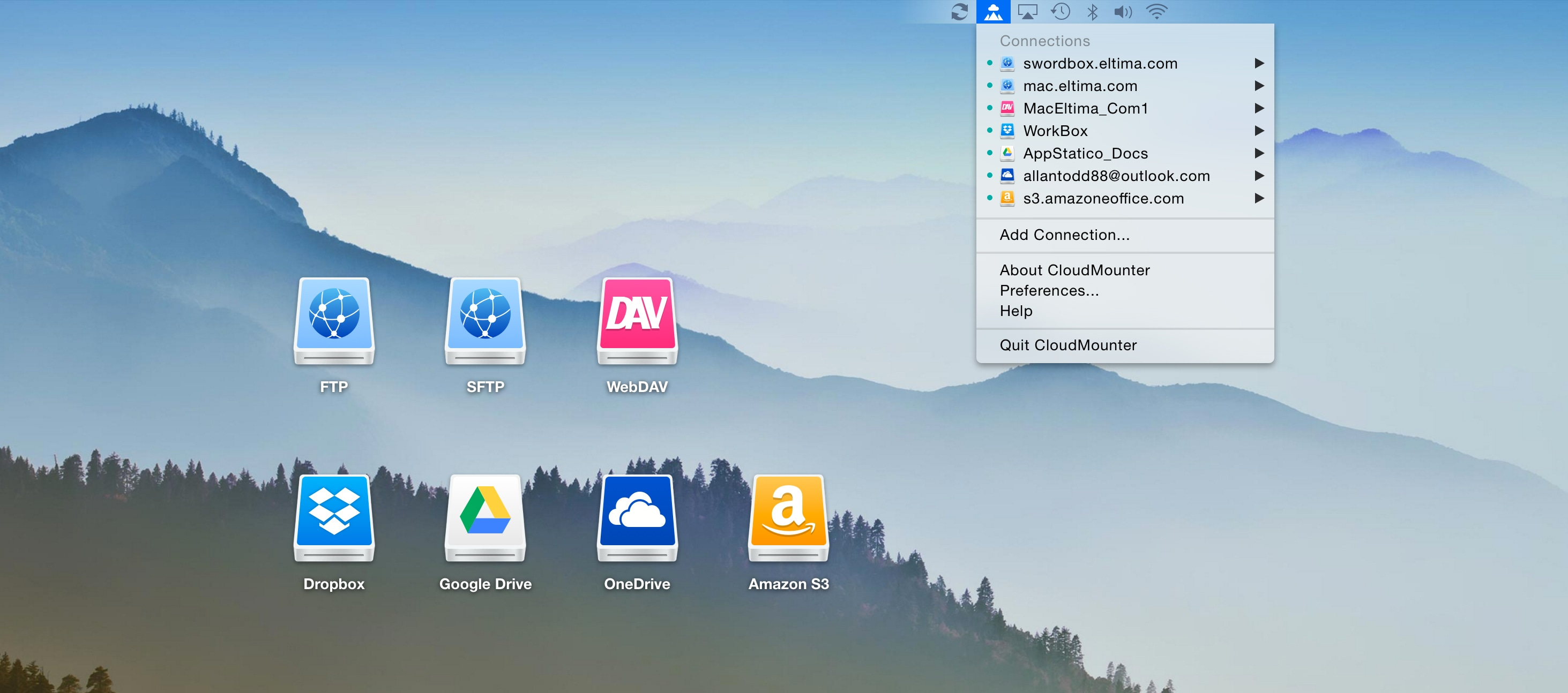 CloudMounter no Mac