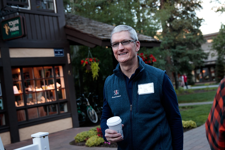 Tim Cook na conferência em Sun Valley