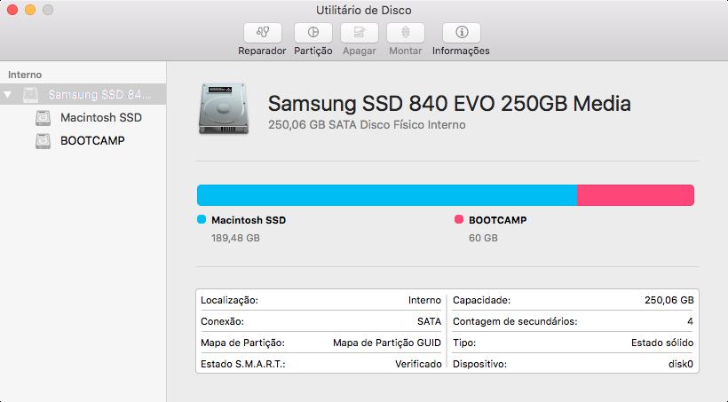 Utilitário de Disco do OS X