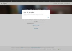 Problema com ID Apple