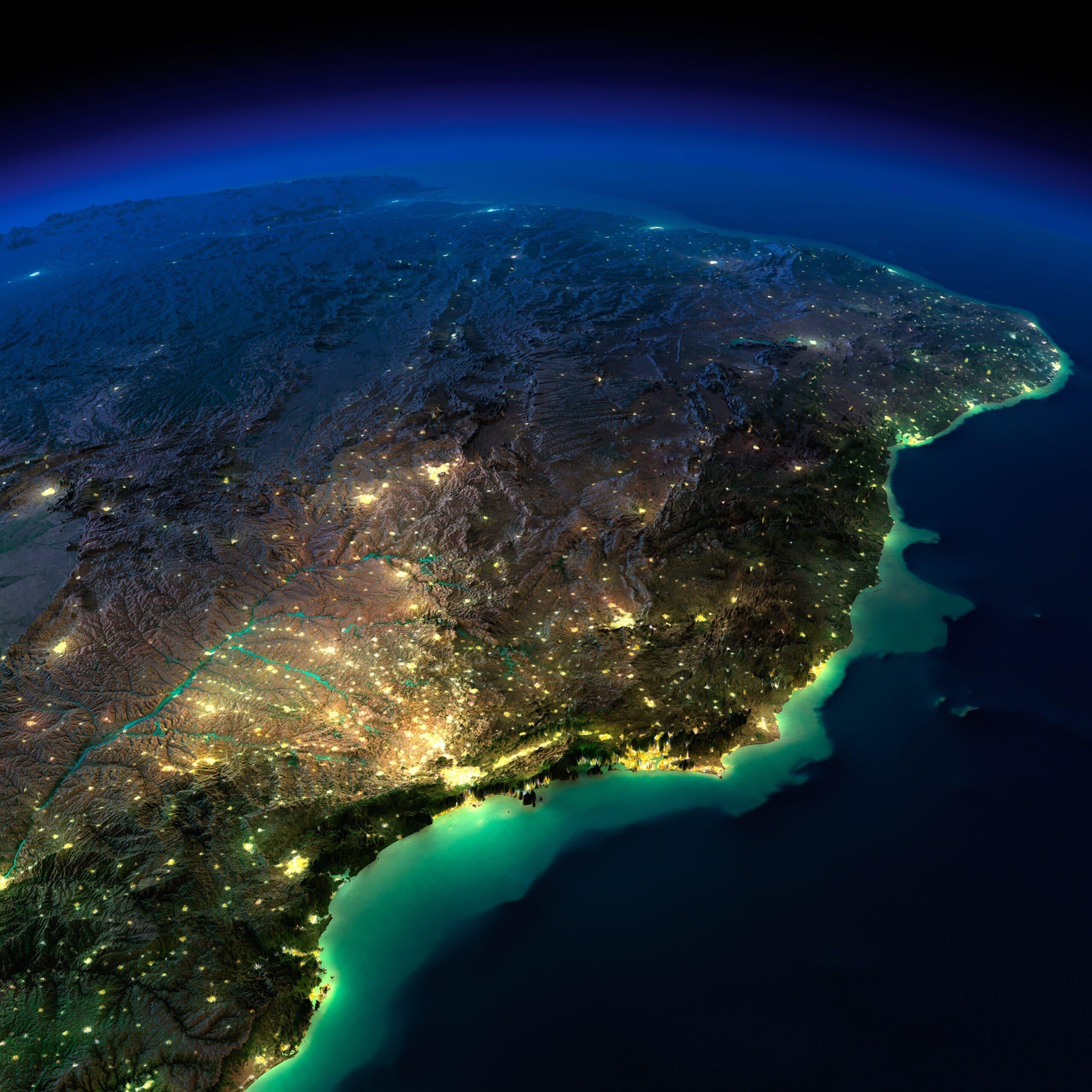 Brasil visto do espaço (planeta Terra)