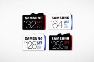 Cartões UFS da Samsung