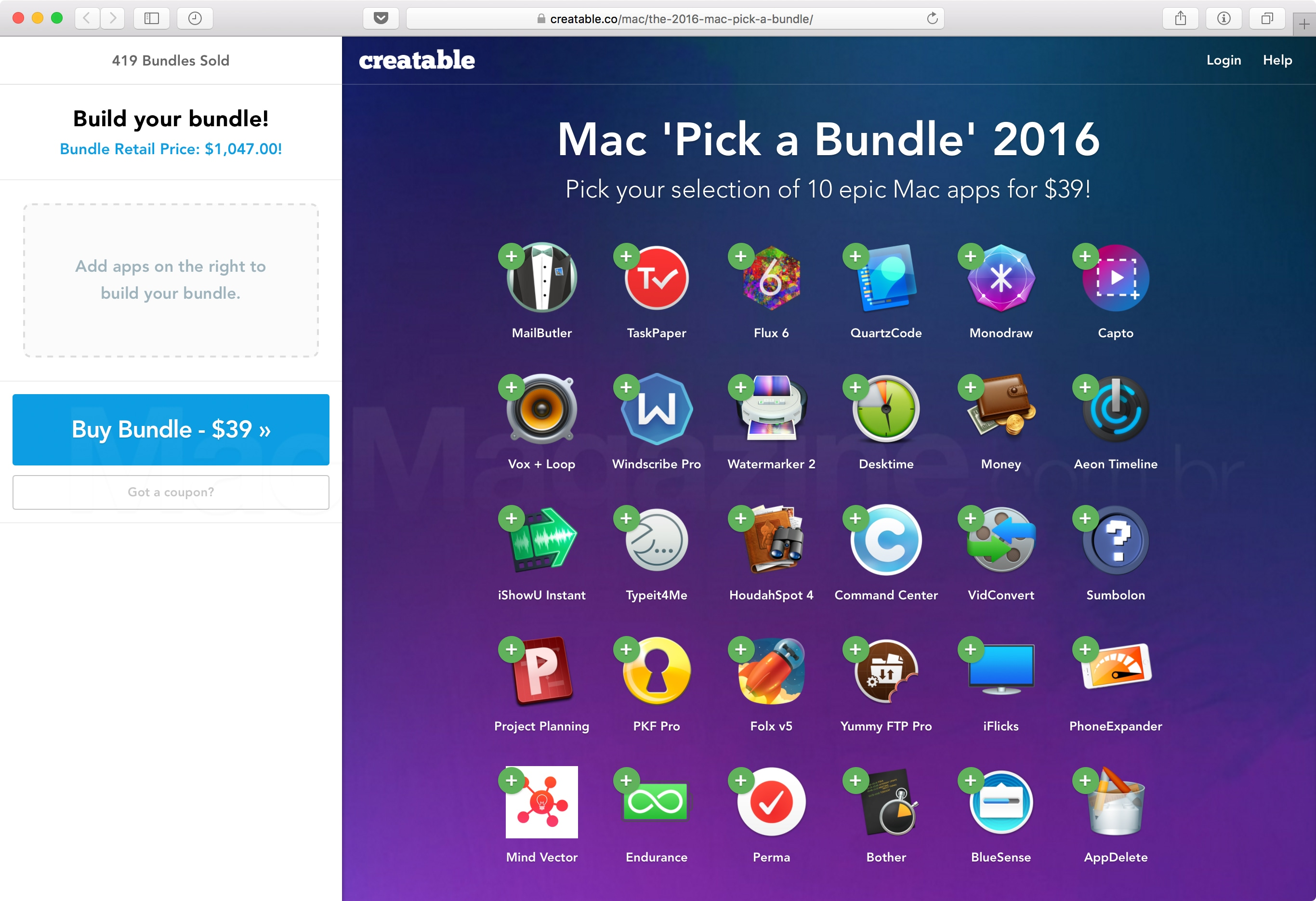 "Mac ""Pick a Bundle"" 2016"