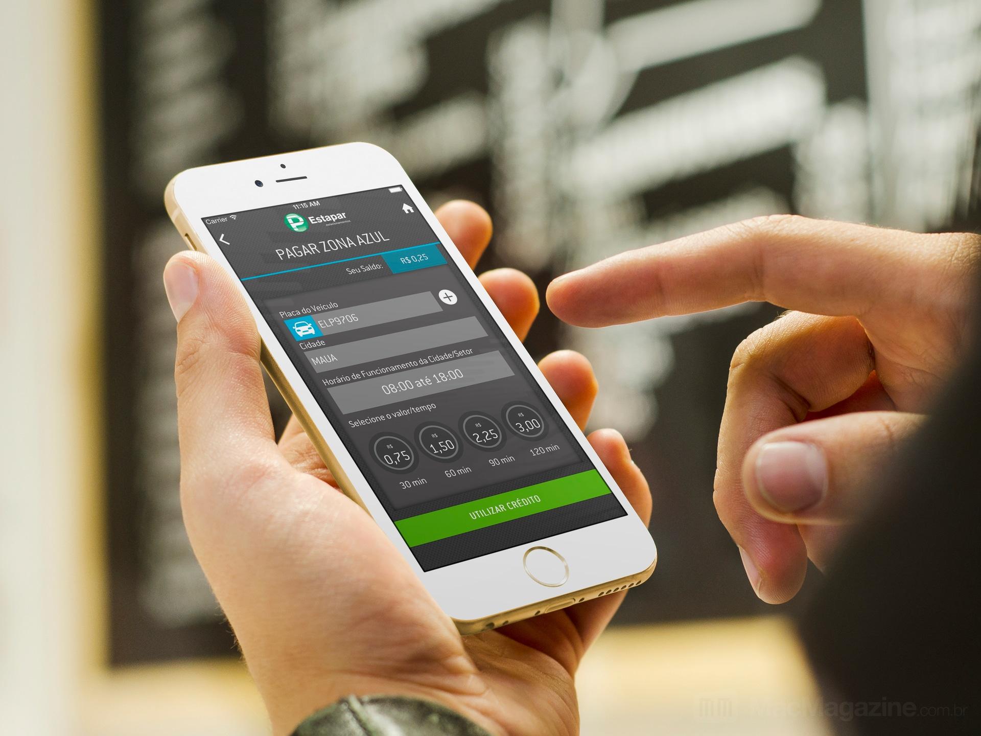Estapar - VagaInteligente num iPhone 6