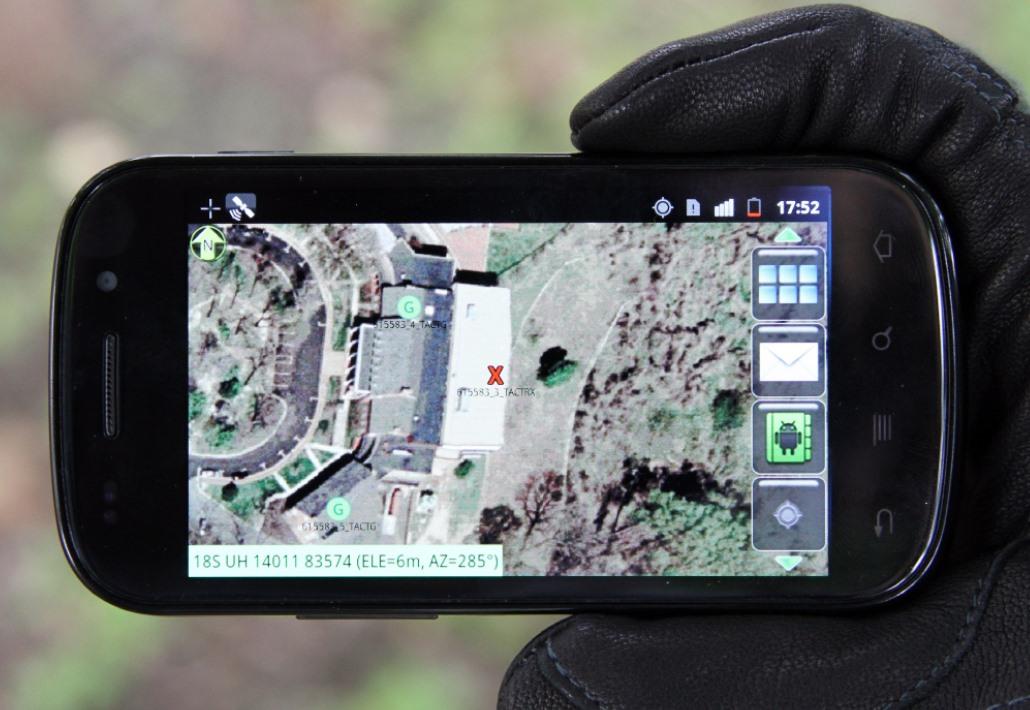 Android usado por soldados americanos