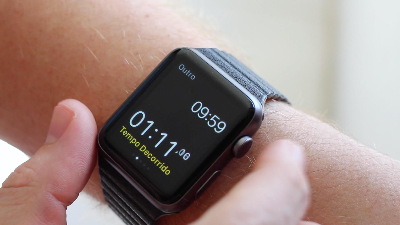 Alternando entre apps no Apple Watch