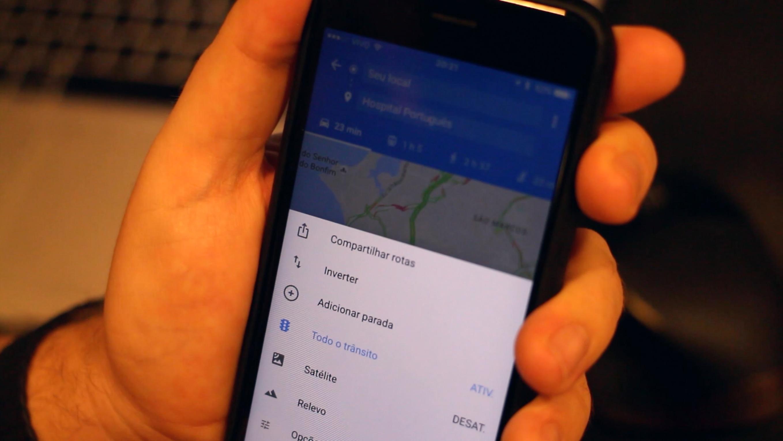 Múltiplas paradas no Google Maps para iOS