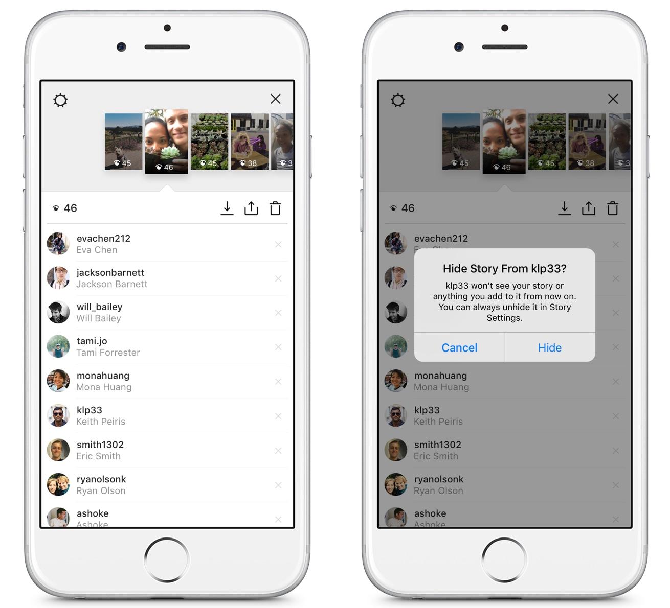Privacidade do Instagram Stories
