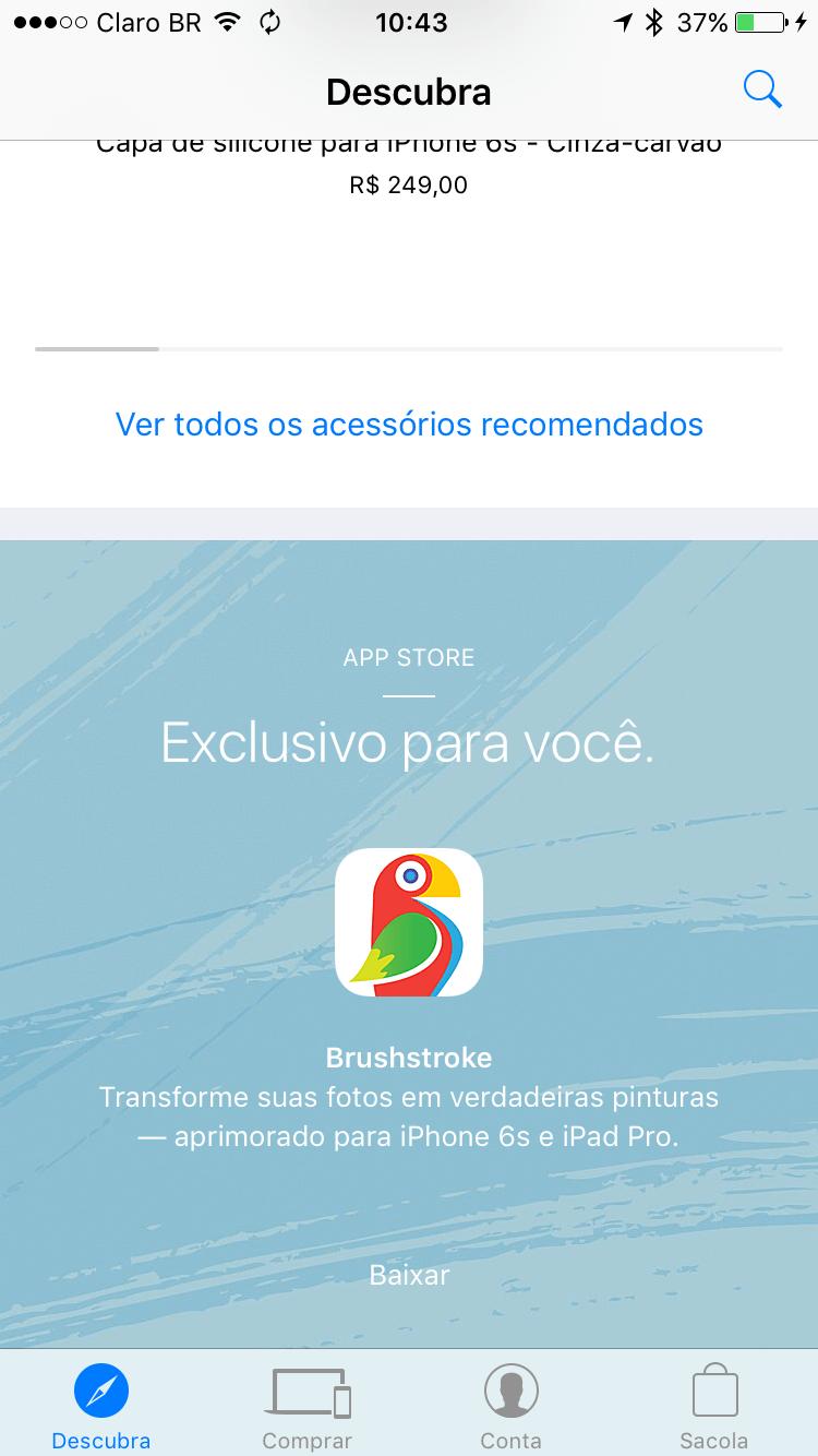 Brushstroke no app Apple Store