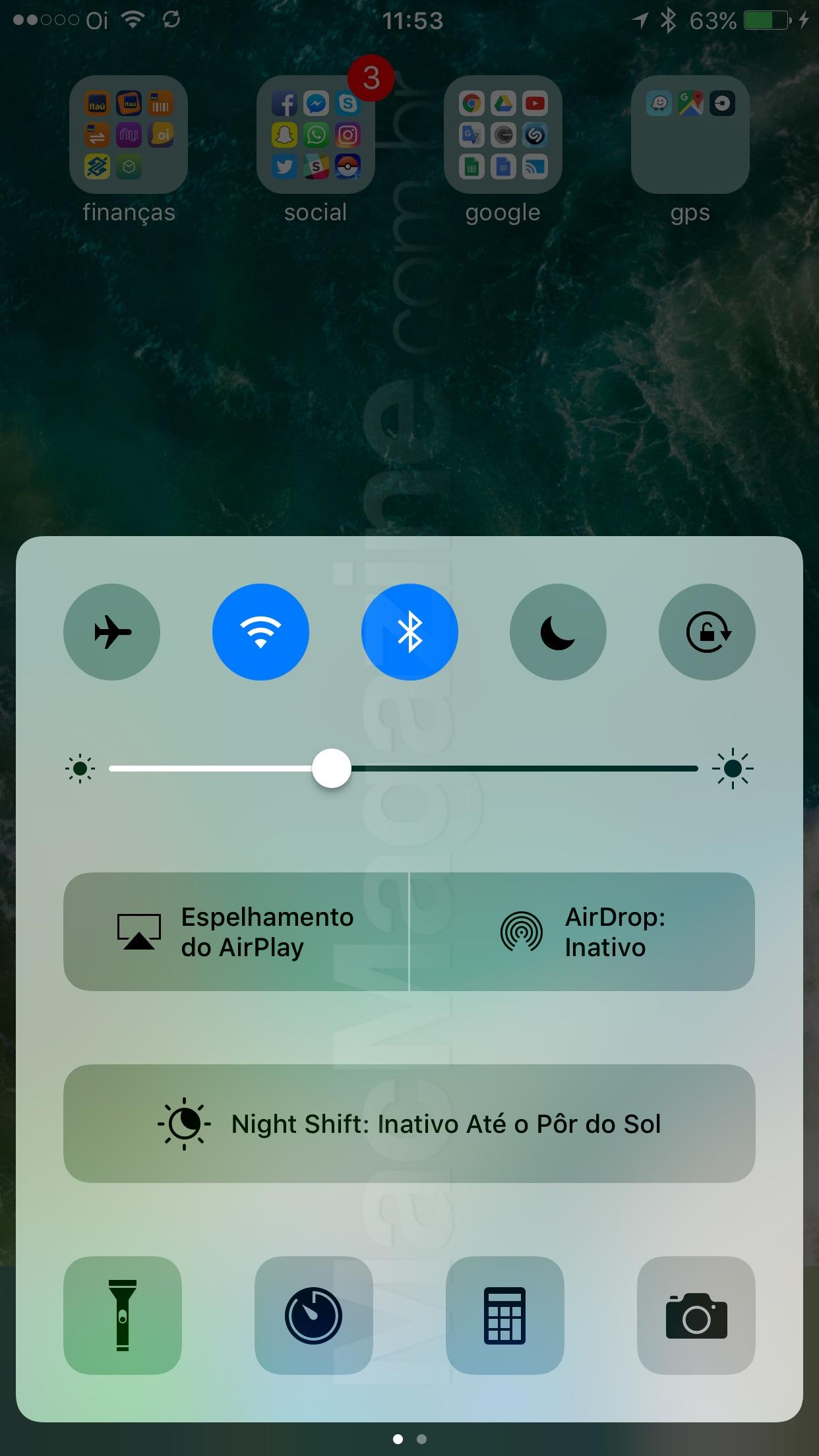 Screenshot do iOS 10 beta