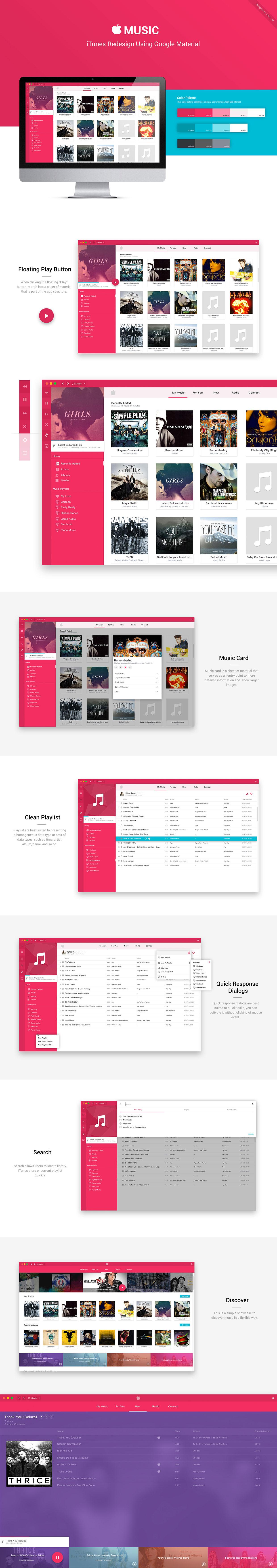 iTunes em Material Design