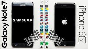 Samsung Note 7 vs iPhone 6s