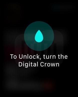 Bloqueio de tela do Apple Watch para exercícios
