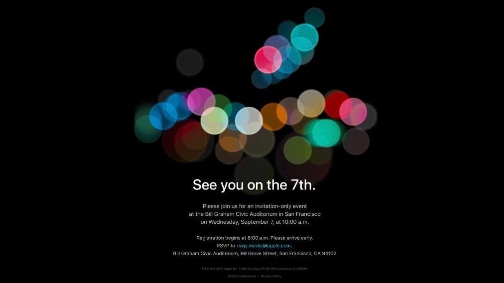 Convite do evento especial da Apple