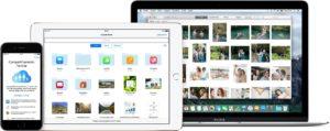 Dispositivos utilizando o iCloud