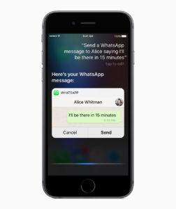 Integração da Siri com o WhatsApp
