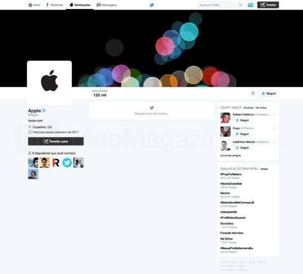 Conta oficial da Apple no Twitter