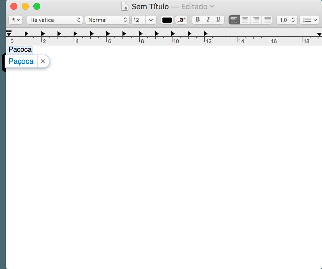 Correção automática de texto no macOS