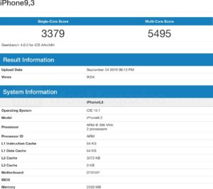 "Supostos benchmarks do ""iPhone 7"""
