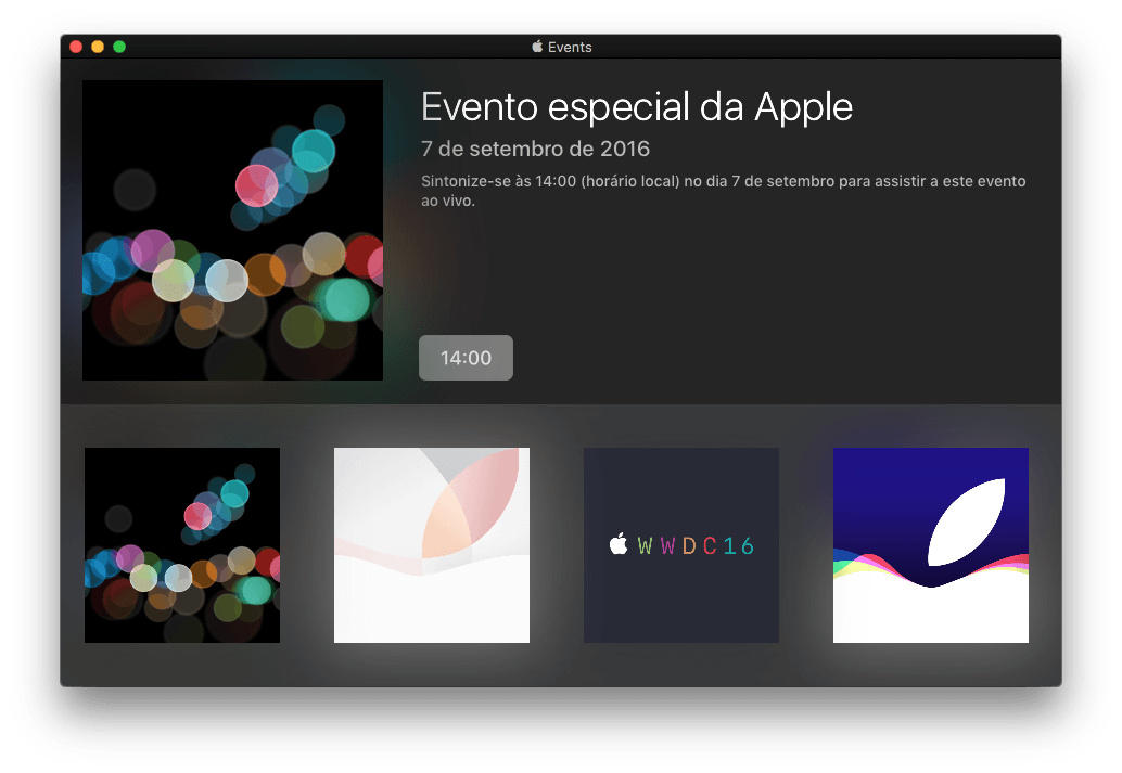 Apple Events App br