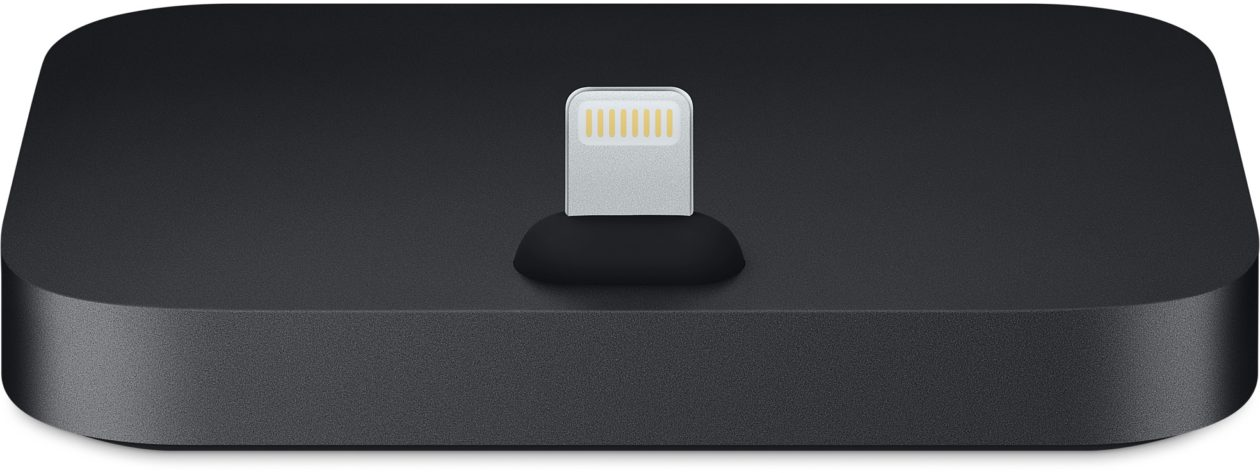 Base Lightning para iPhones na cor preta