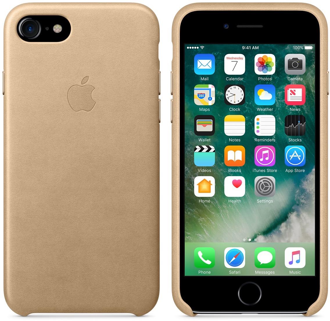 Case de couro para iPhone 7