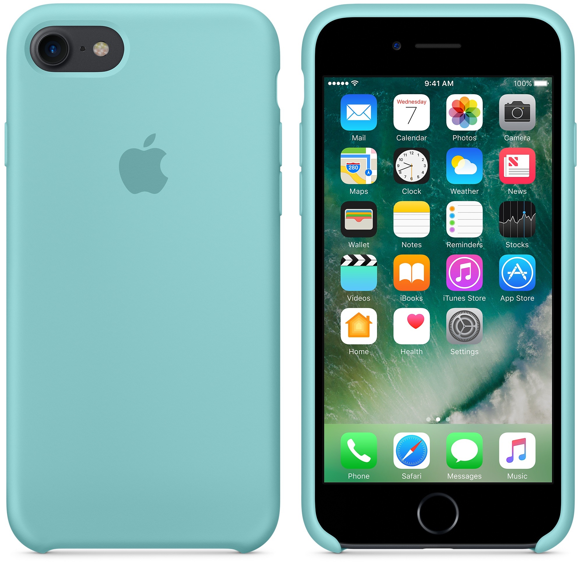 Case de silicone para iPhone 7
