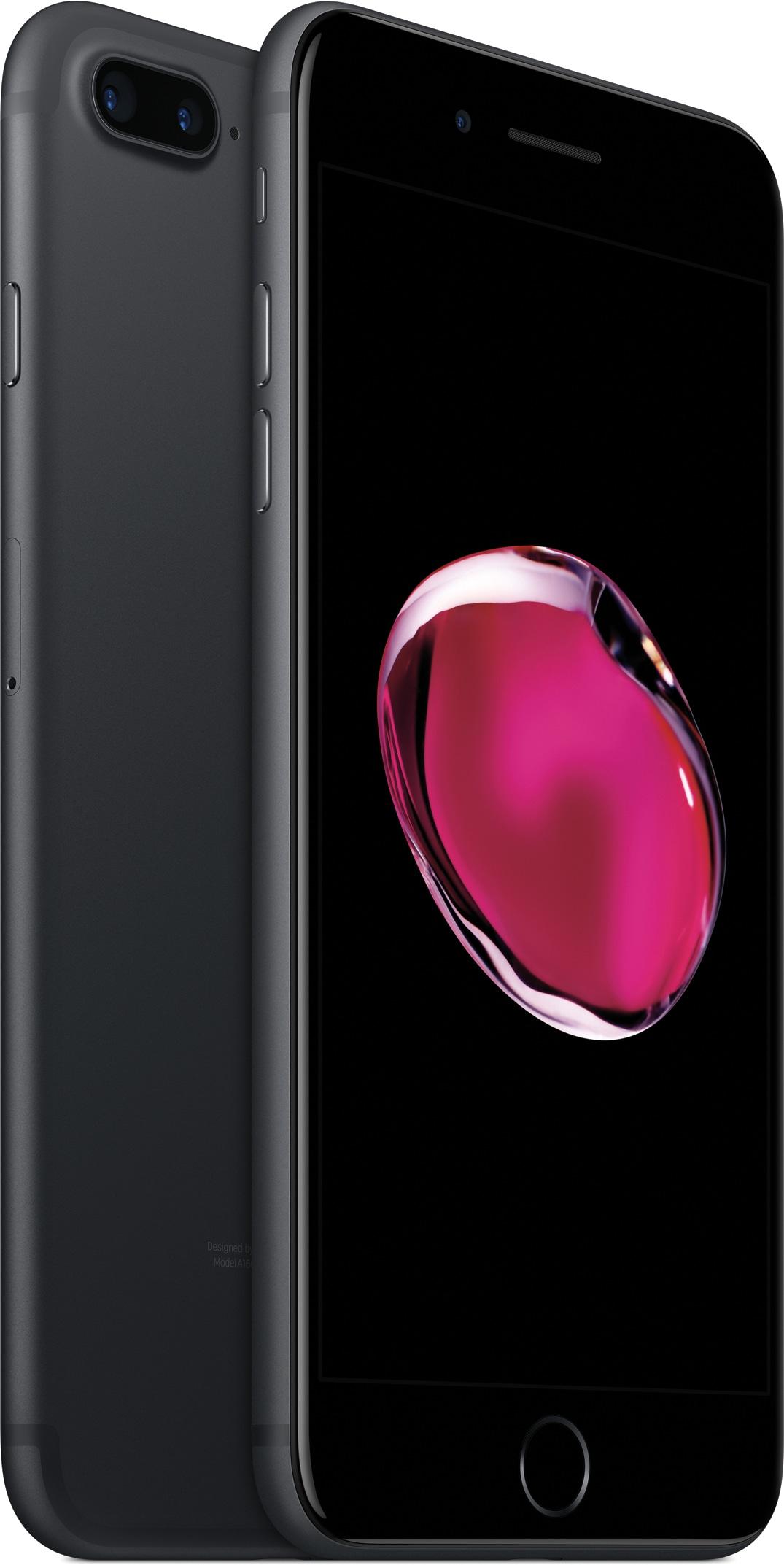 iPhone 7 Plus preto de frente e de costas