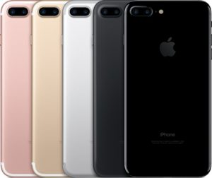 iPhones 7 Plus de costas em todas as cores