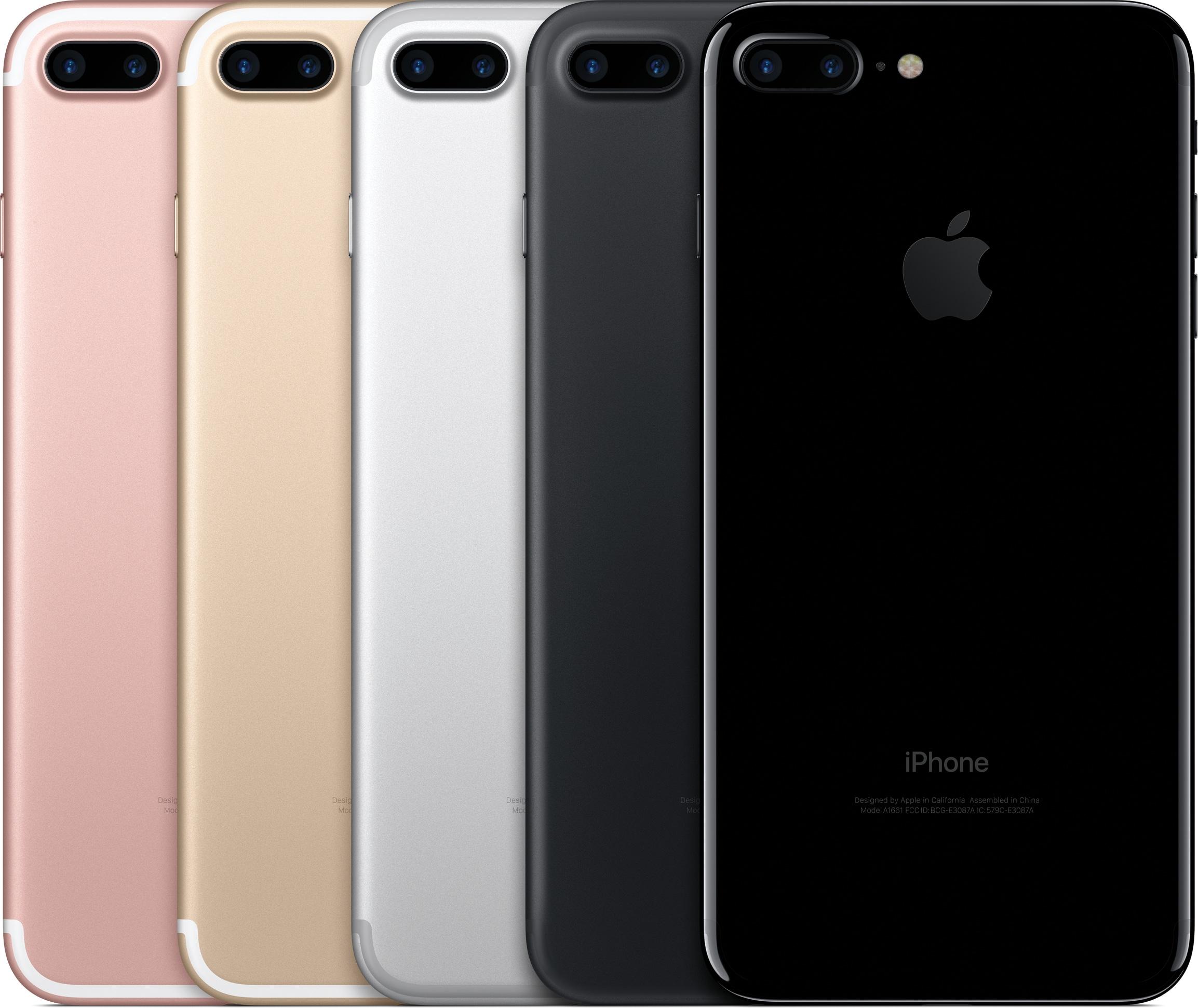 iPhones 7 Plus de costas em todas as cores