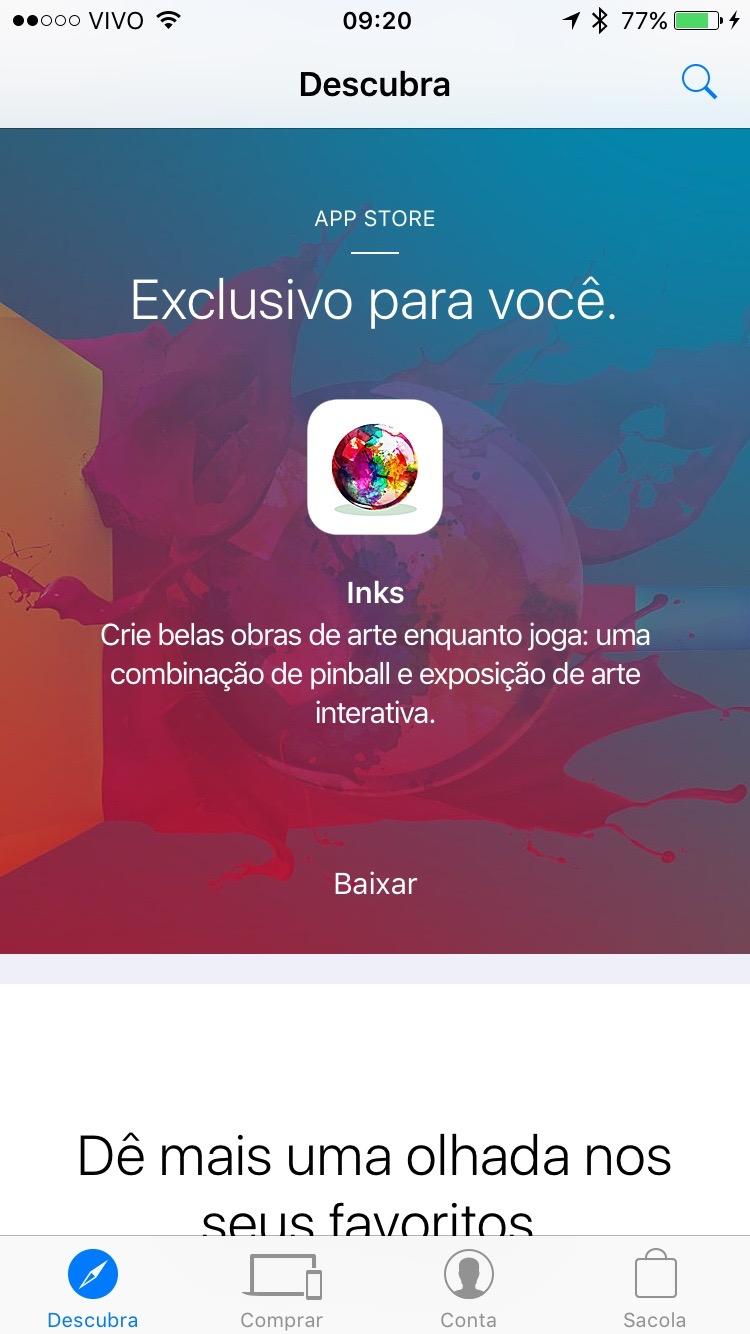 INKS. de graça no Apple Store