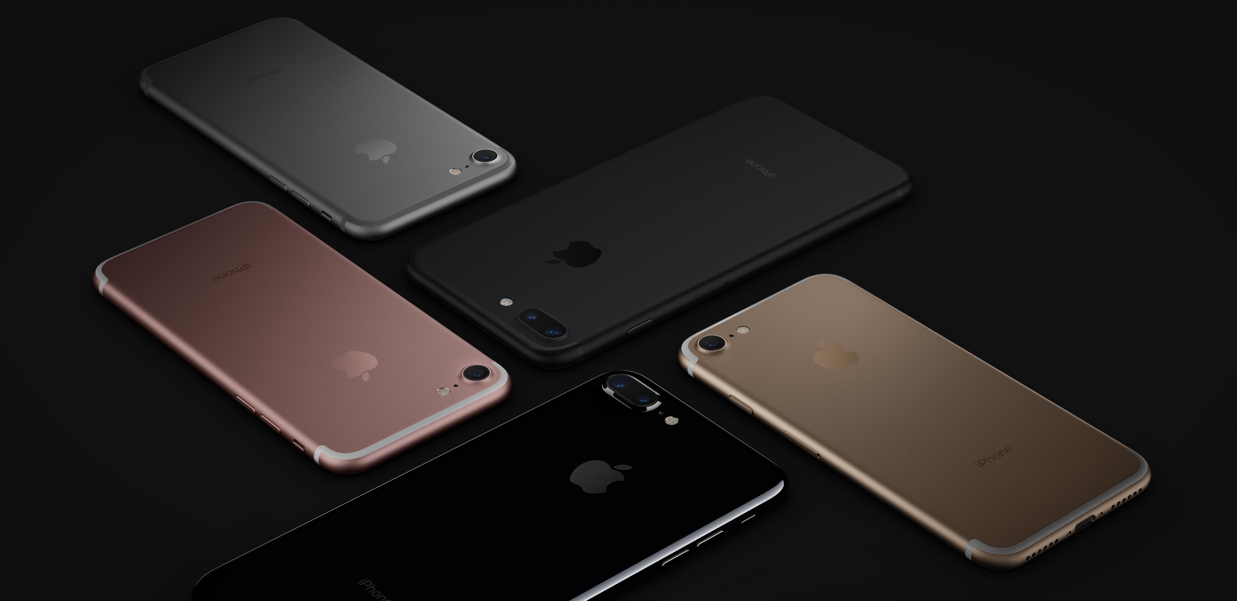 iPhones 7 e 7 Plus