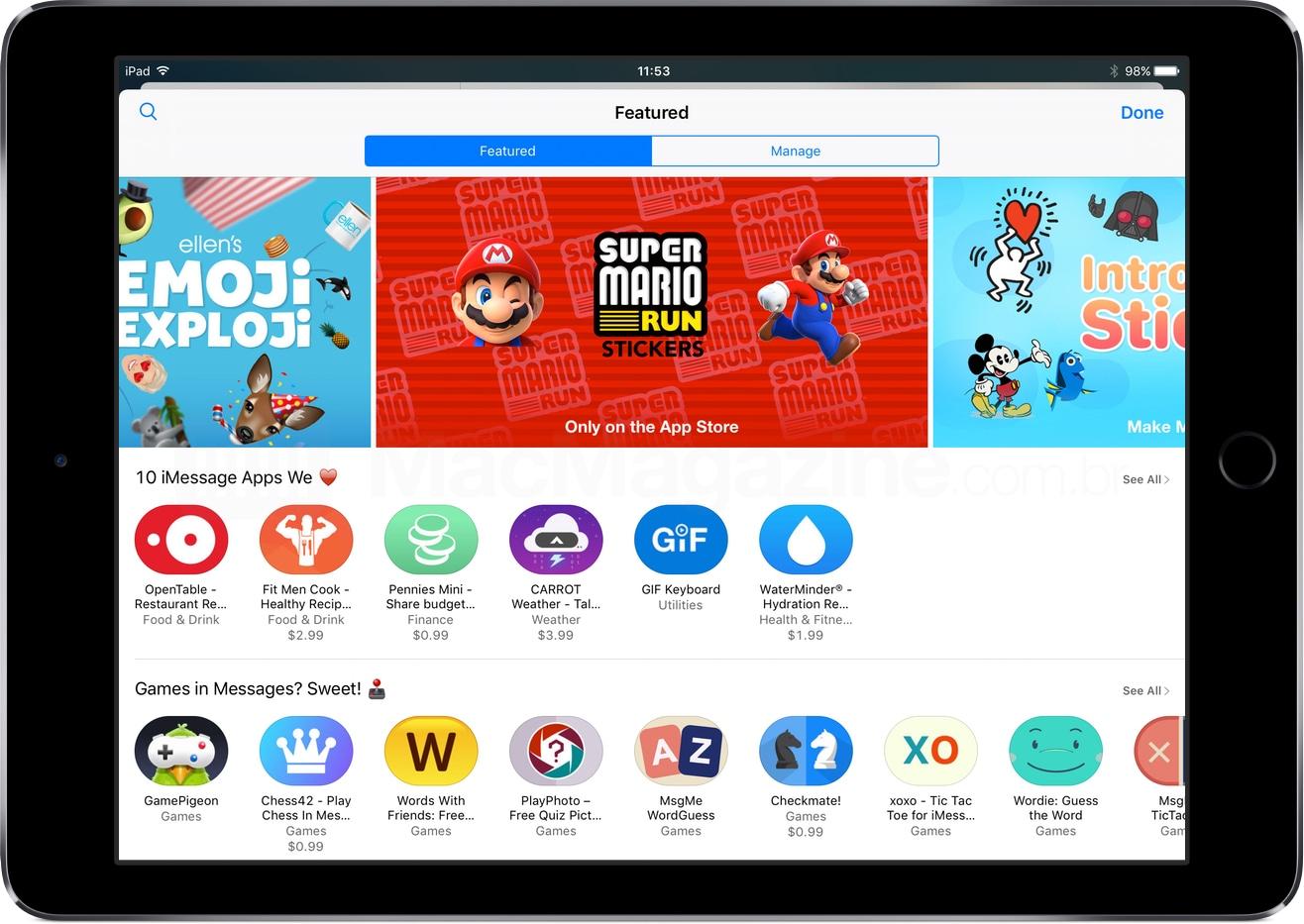 App Store do iMessage