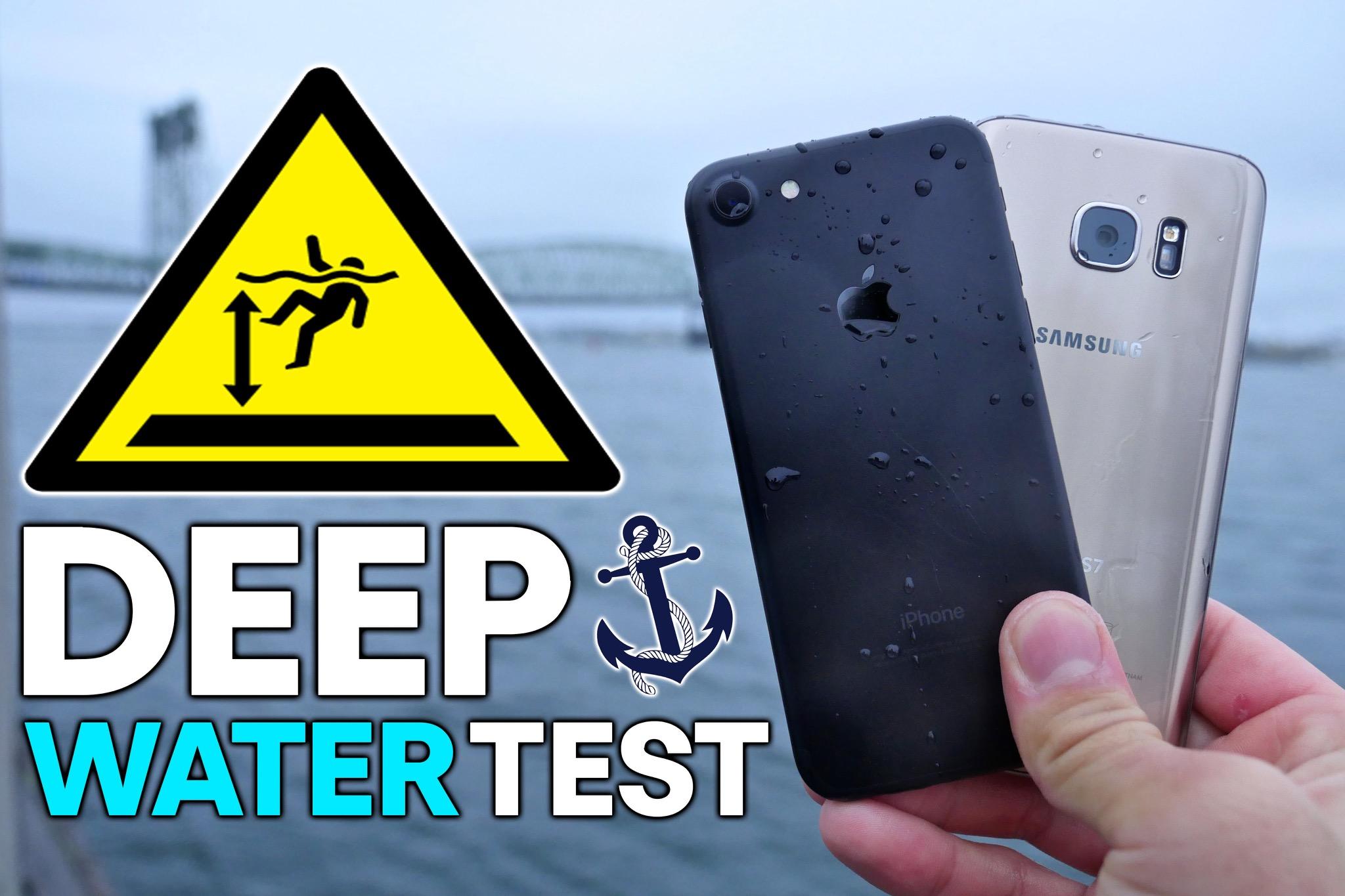 Vídeo testando a resistência do iPhone 7 e do Galaxy S7