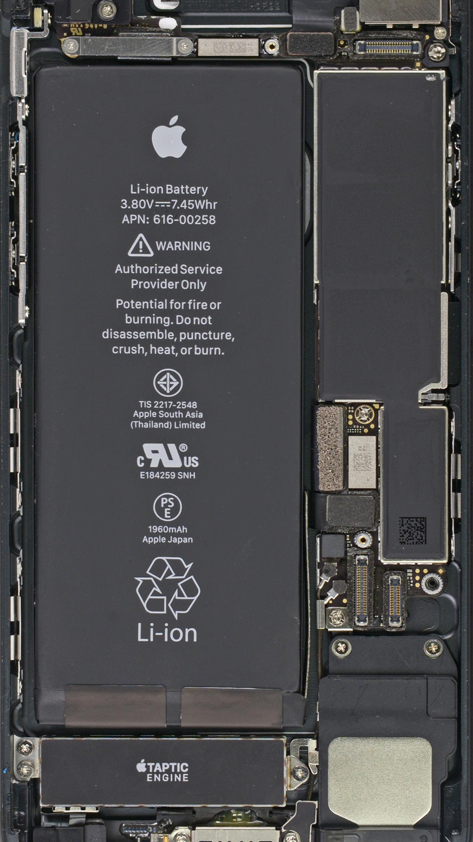 Wallpaper raio X do iPhone 7