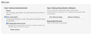 Backup pelo iTunes