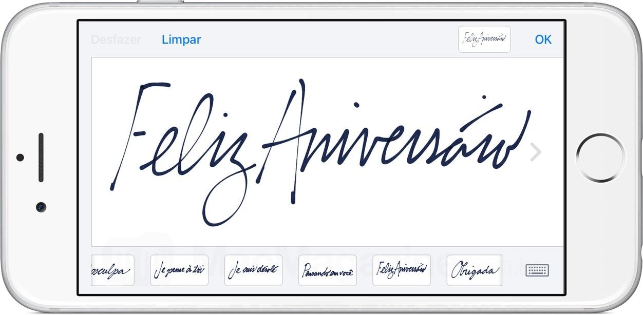 Manuscrito no iMessage do iOS 10