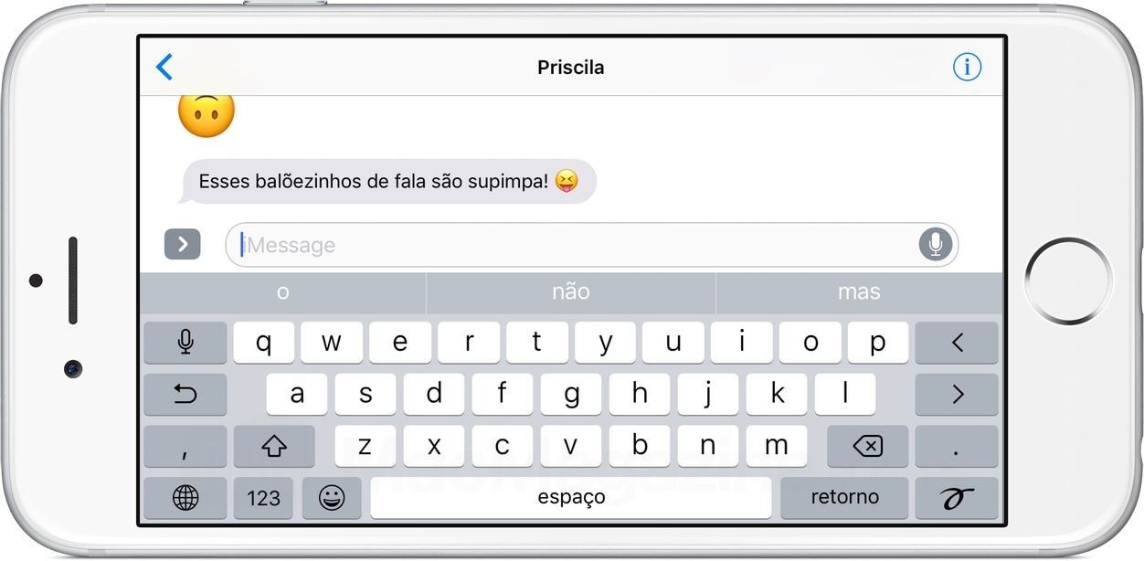 Manuscrito no iMessage do iOS 10