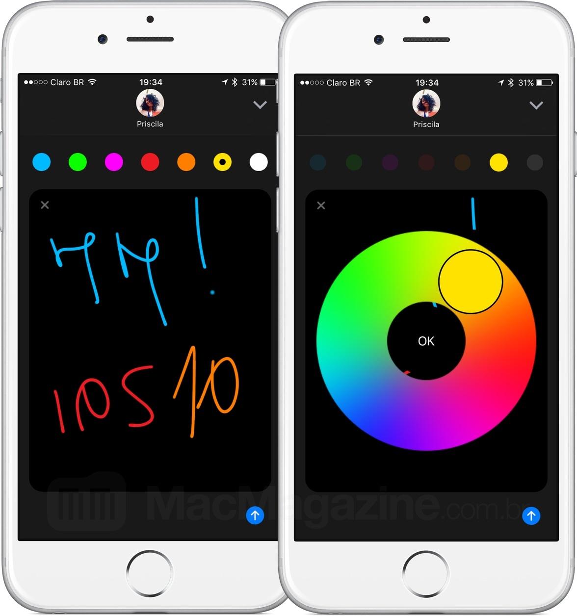 Digital Touch no iMessage do iOS 10