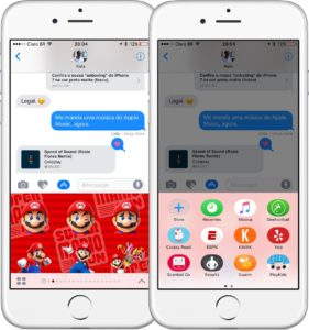Loja dentro do iMessage do iOS 10