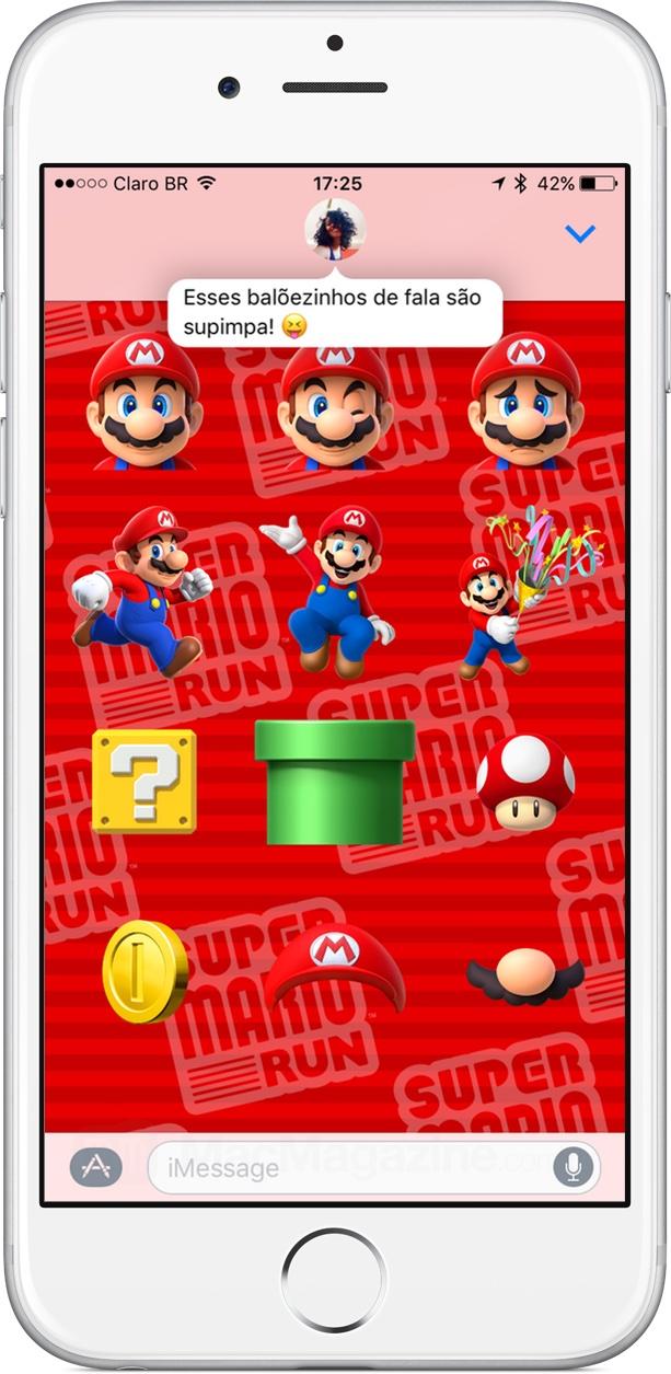 Mensagem em balões no iMessage do iOS 10