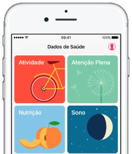 App Saúde no iOS