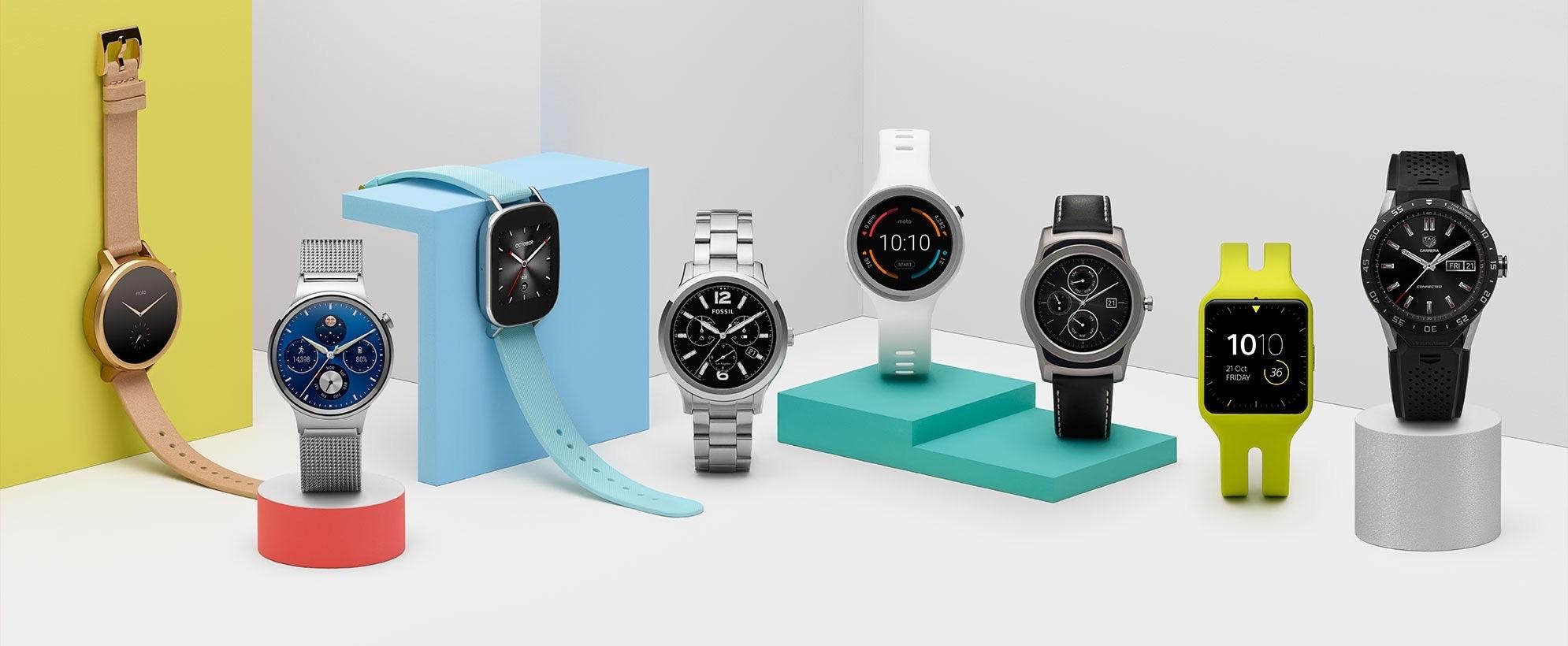 Relógios com o sistema operacional Android Wear