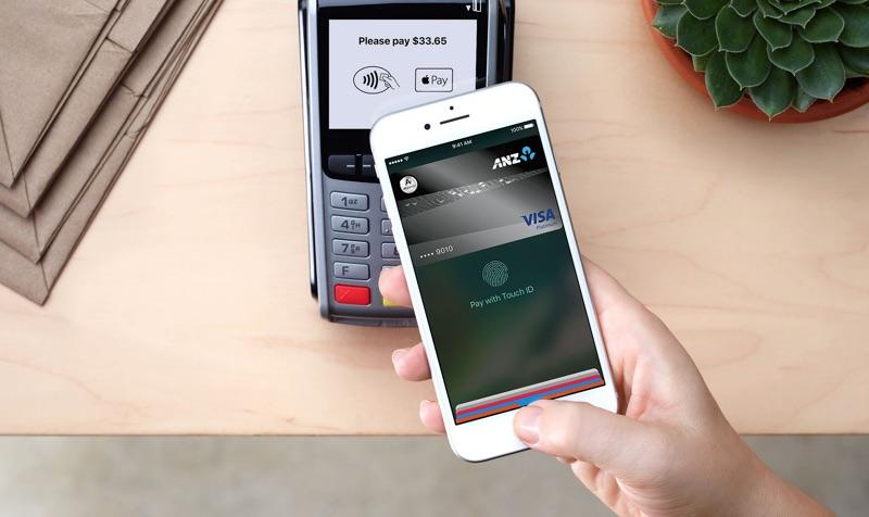 Apple Pay Nova Zelândia banco ANZ