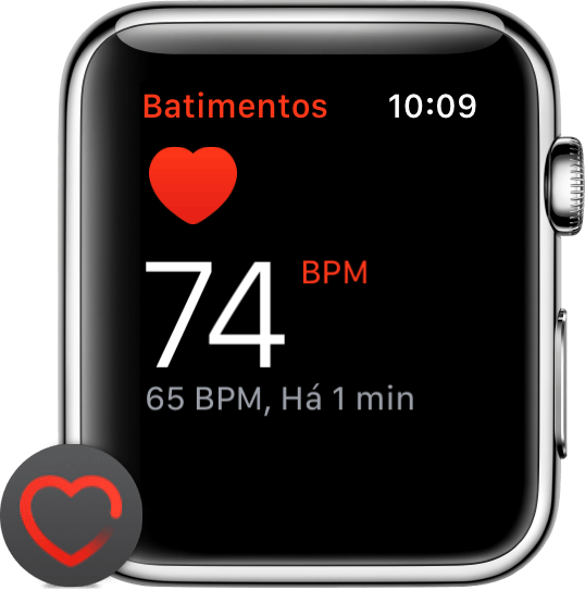 Frequência cardíaca do Apple Watch