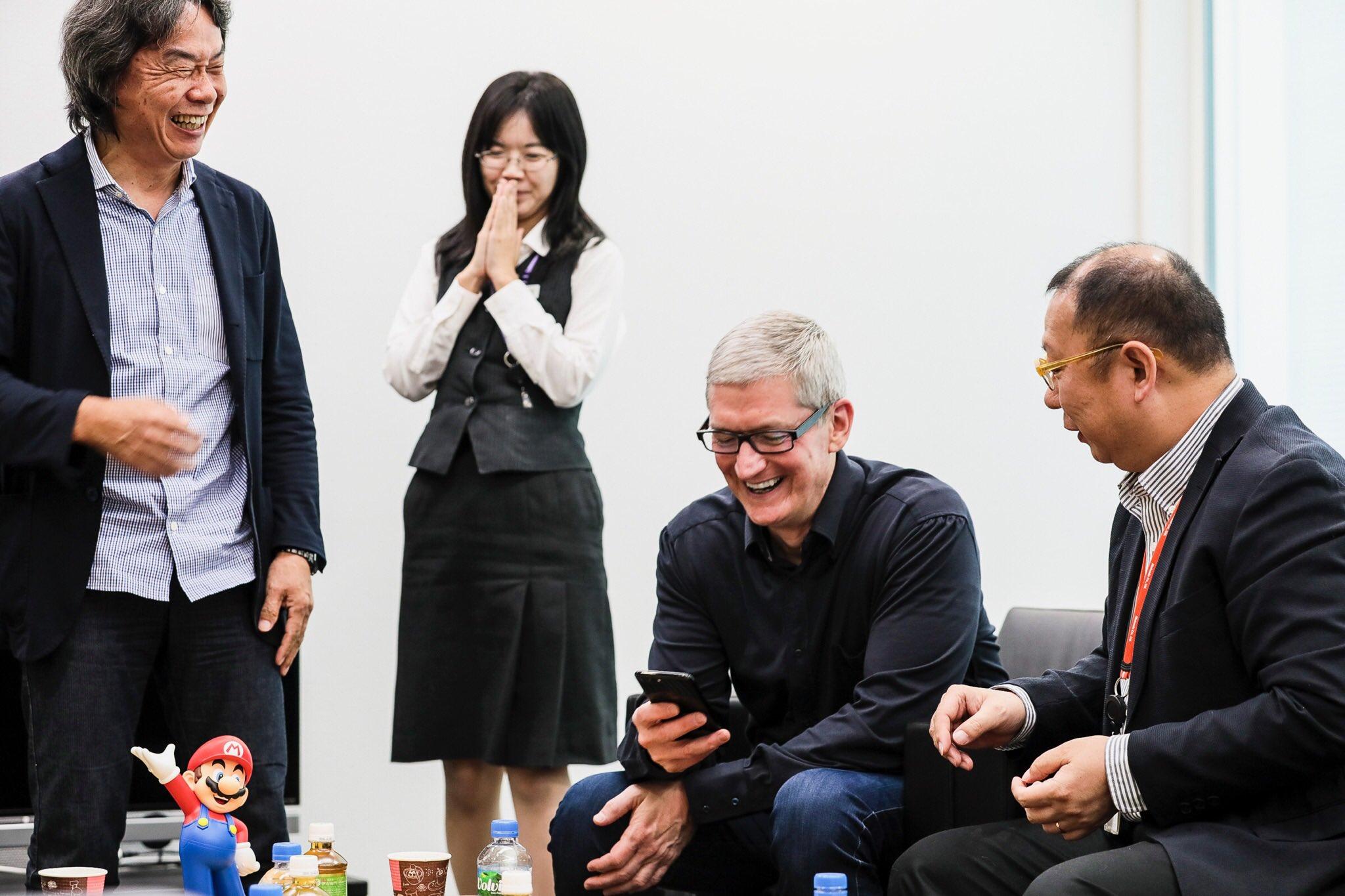 Tim Cook Apple Nintendo Japão