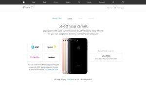 iPhones desbloqueados à venda na loja online da Apple