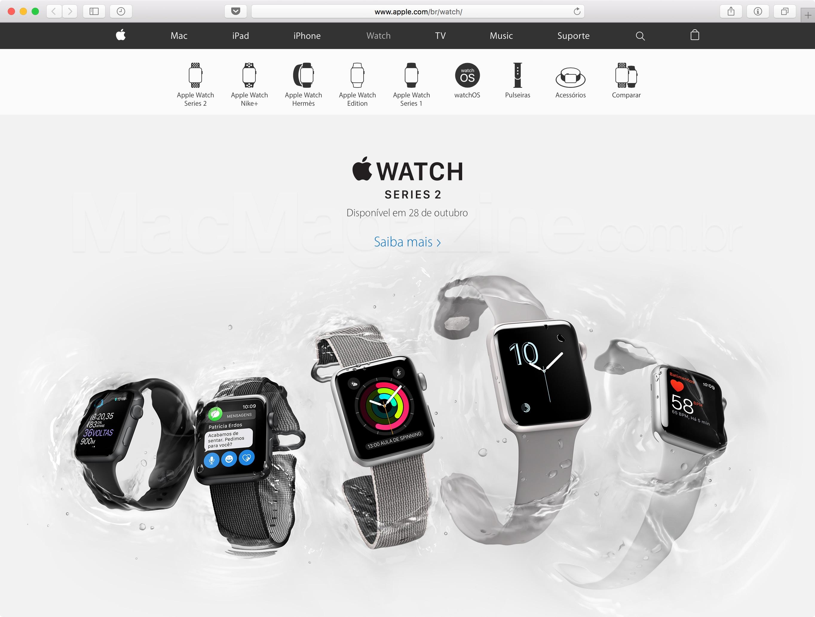 Apple Watch Series 2 no Brasil