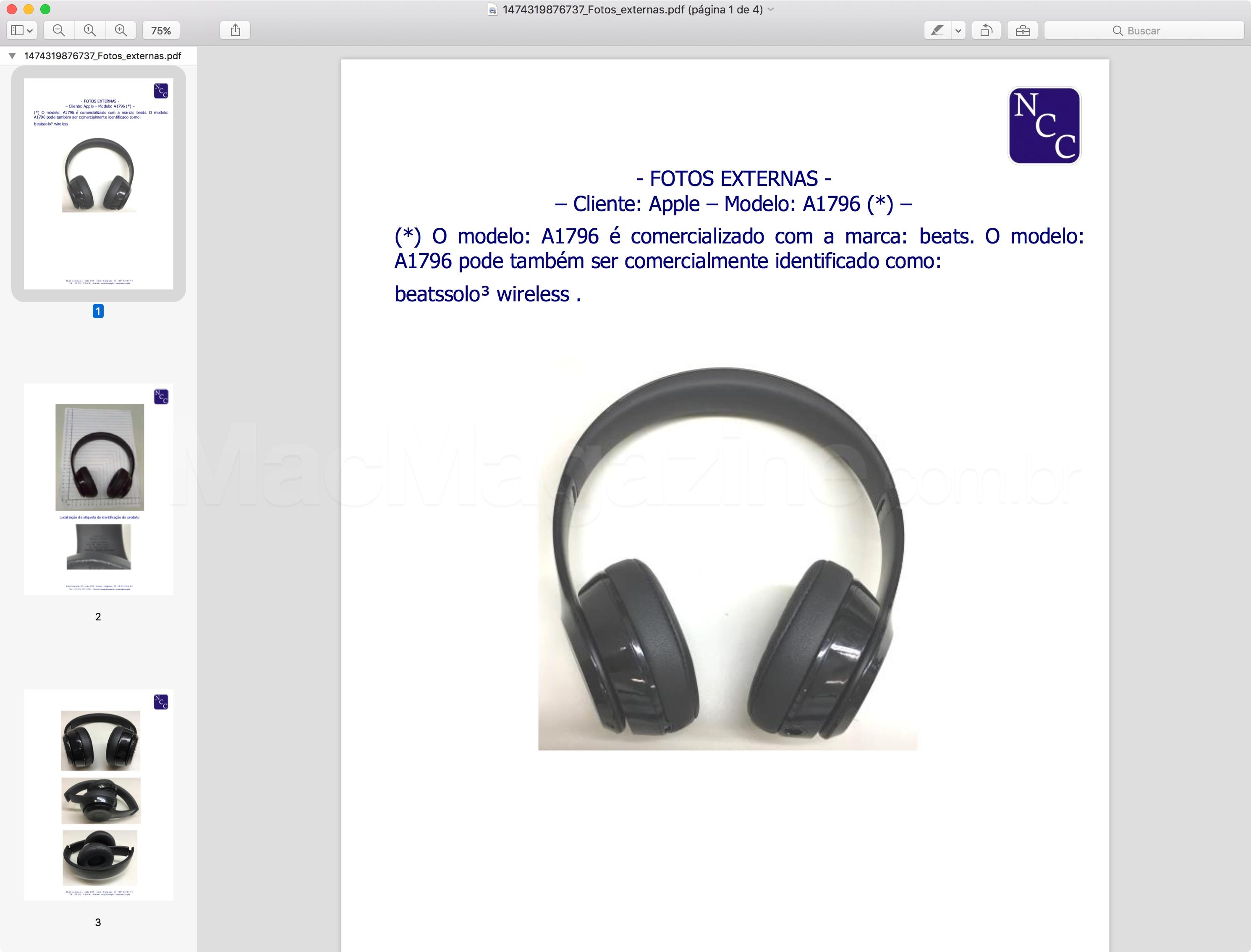 Fotos do Beats Solo3 Wireless (A1796)