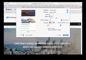 Transformando um documento em PDF no macOS